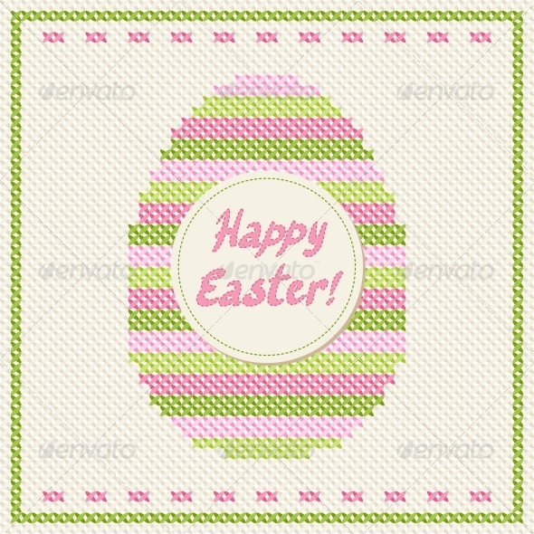 GraphicRiver Happy Easter Greeting Card 3846134
