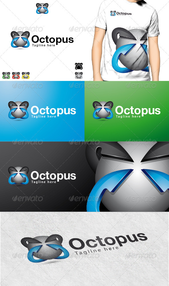 GraphicRiver Octopus Logo 3729570