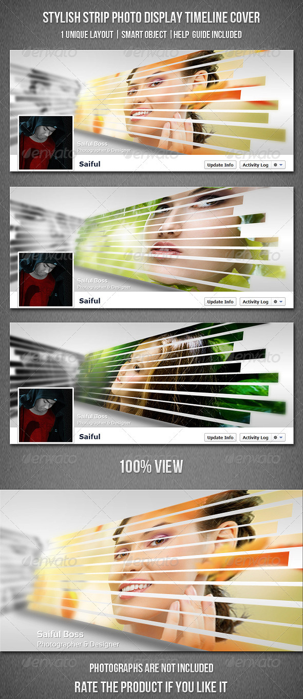 GraphicRiver Stylish Strip Photo Display FB Timeline Cover 3848087