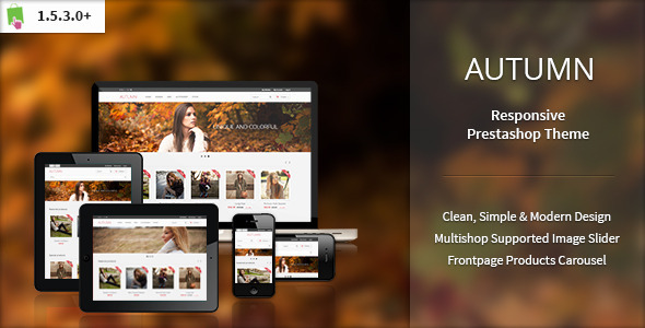 ThemeForest Autumn Responsive Prestahop Theme 3848244