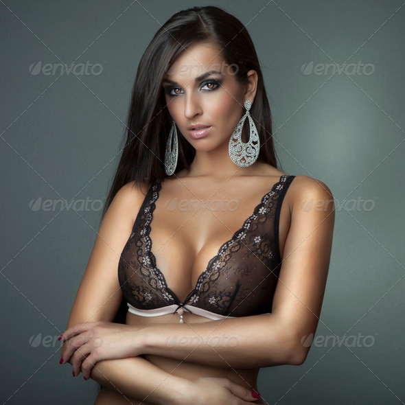 lingerie girl - Stock Photo - Images