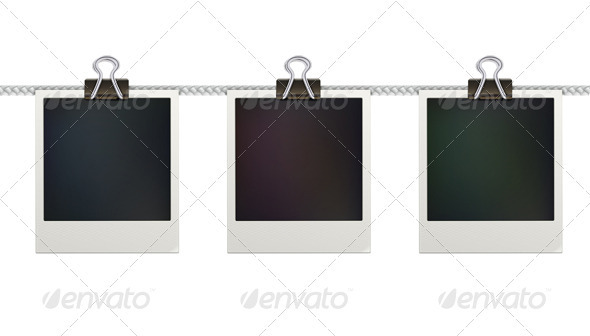 GraphicRiver Retro Polaroid Photo Frames 3849782