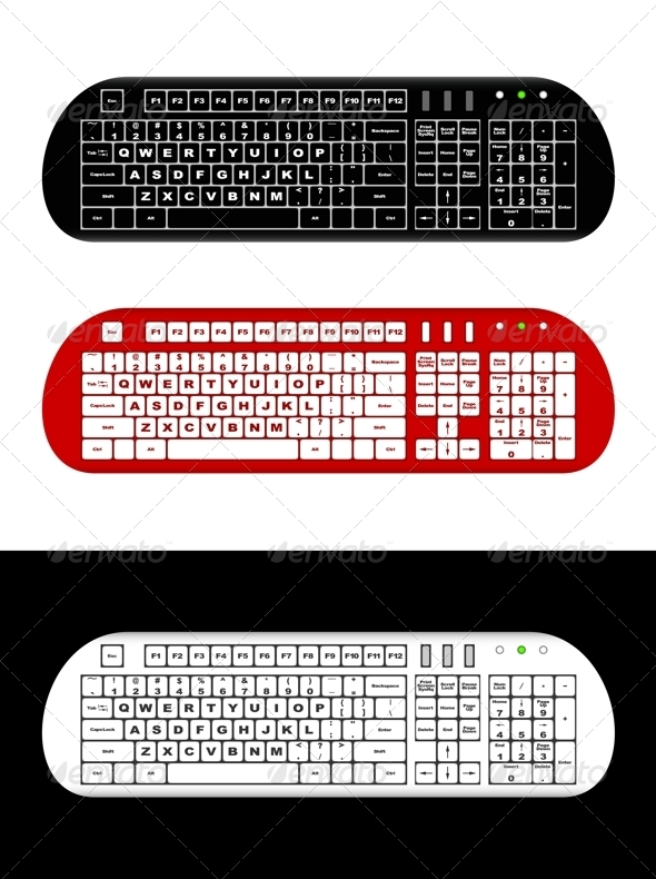 GraphicRiver Computer keyboard 3841839