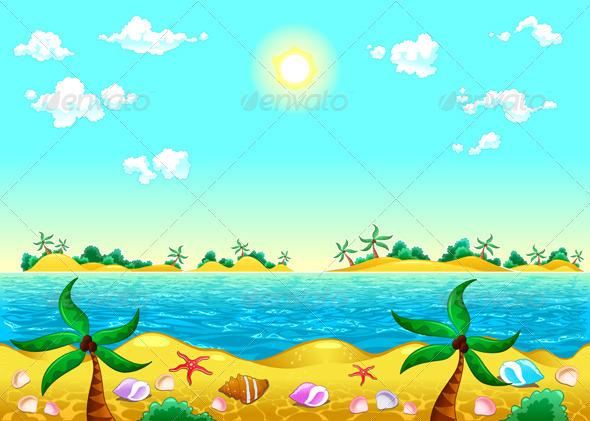 GraphicRiver Seashore and Ocean 3850817
