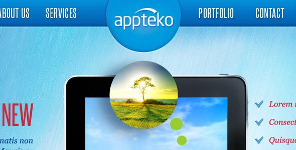 ThemeForest Appteko Responsive Portfolio Theme 3850978
