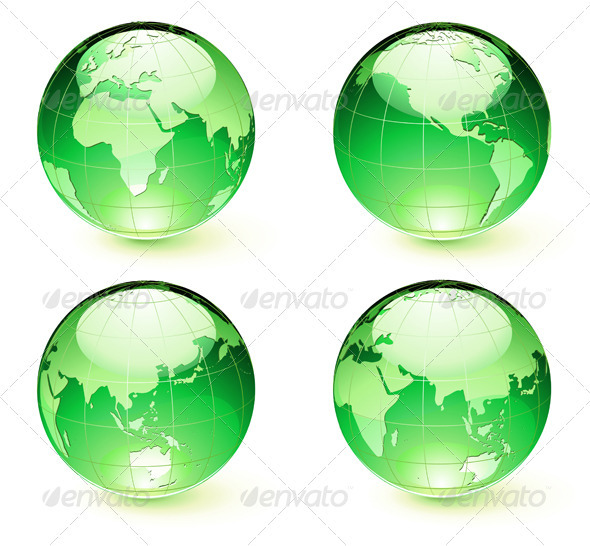 GraphicRiver Globes Set 3851047