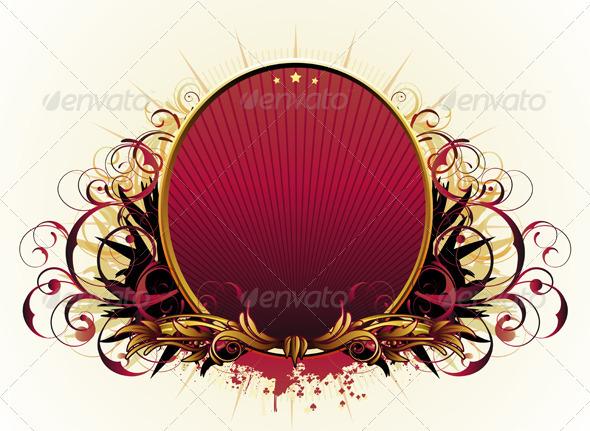 GraphicRiver Floral Frame 3851239