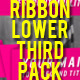 Ribbons Lower Third Pack - VideoHive Item for Sale