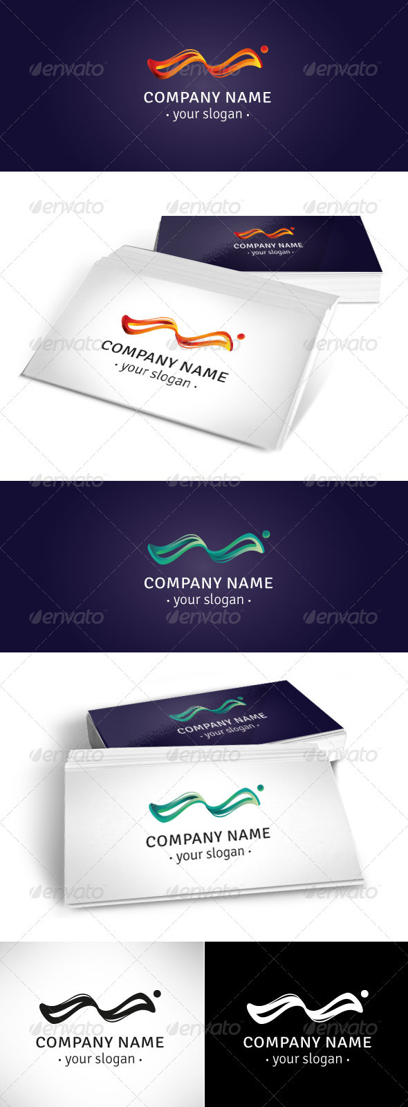 GraphicRiver Wave Logo Template 3852998