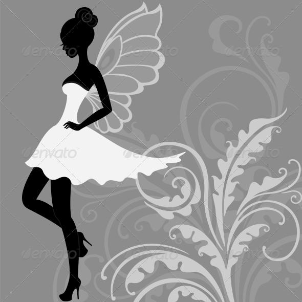 GraphicRiver Silhouette of Fairy 3854360