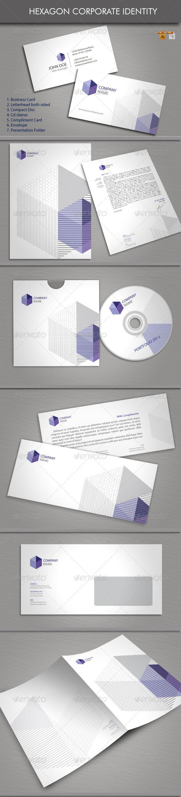 GraphicRiver Hexagon Corporate Identity 3775312