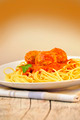 spaghetti with meatballs - PhotoDune Item for Sale