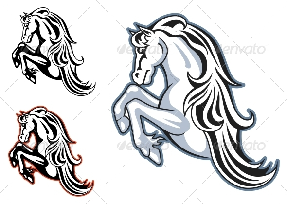 GraphicRiver Wild Stallion Mascot 3855185