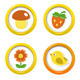 Summer Icons In Colorful Bubbles - GraphicRiver Item for Sale
