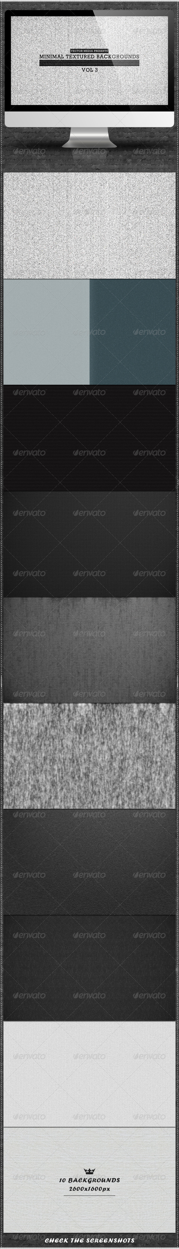 Minimal Textured Backgrounds - Vol 3 - Backgrounds Graphics