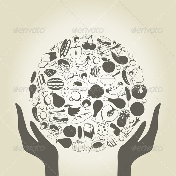 GraphicRiver Hand food 3856576