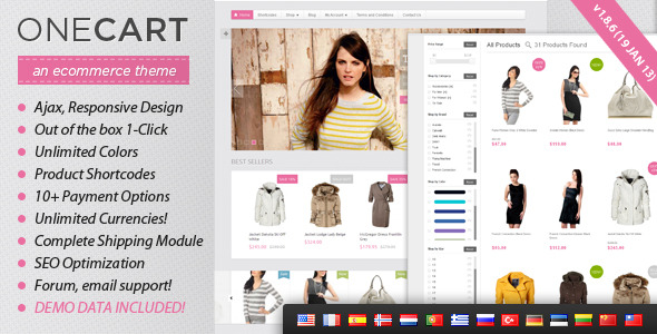 OneCart - Ajax Responsive E-Commerce WordPress Theme