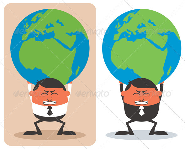 GraphicRiver Businessman Holding Earth 3846103