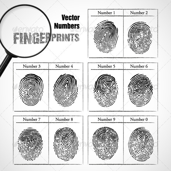 GraphicRiver Numbers of fingerprint 3859154