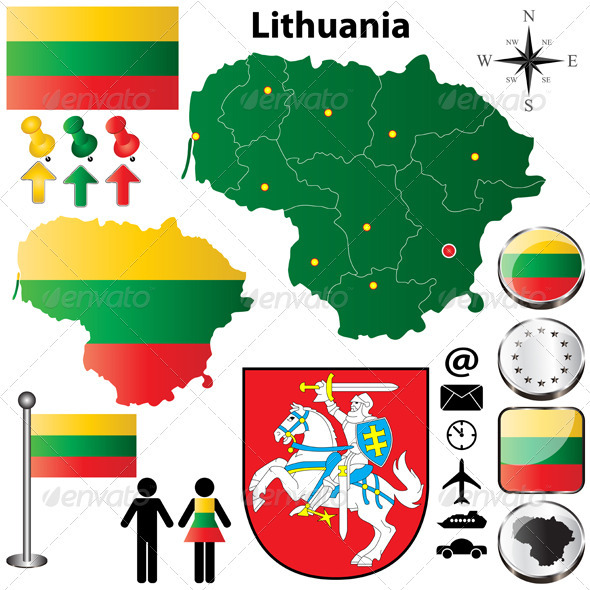 GraphicRiver Lithuania Map 3859160