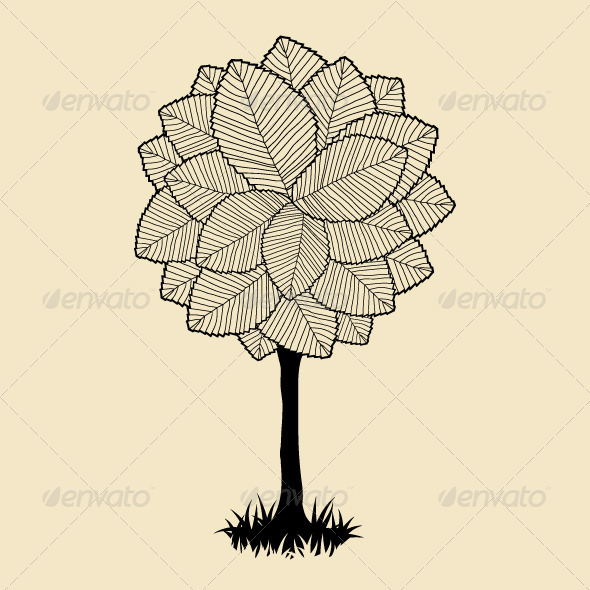 GraphicRiver Tree beautiful for your design 3859532