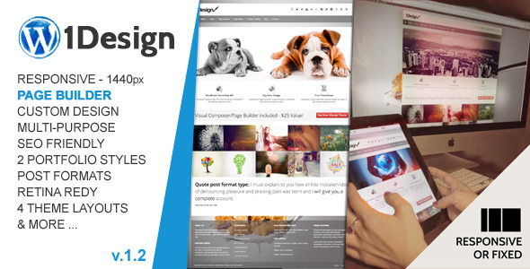 1Design | Responsive Multi-Purpose Theme