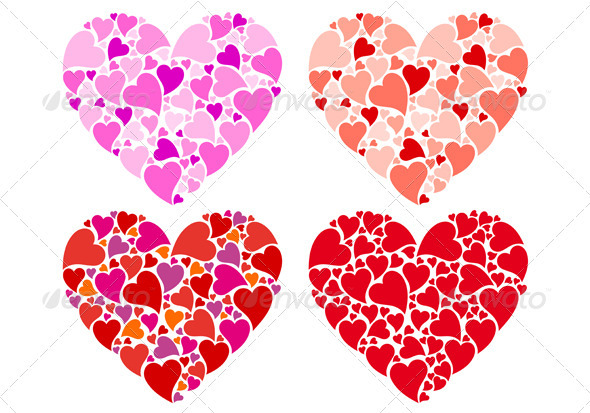 GraphicRiver Heart Designs Vector Set 3861013