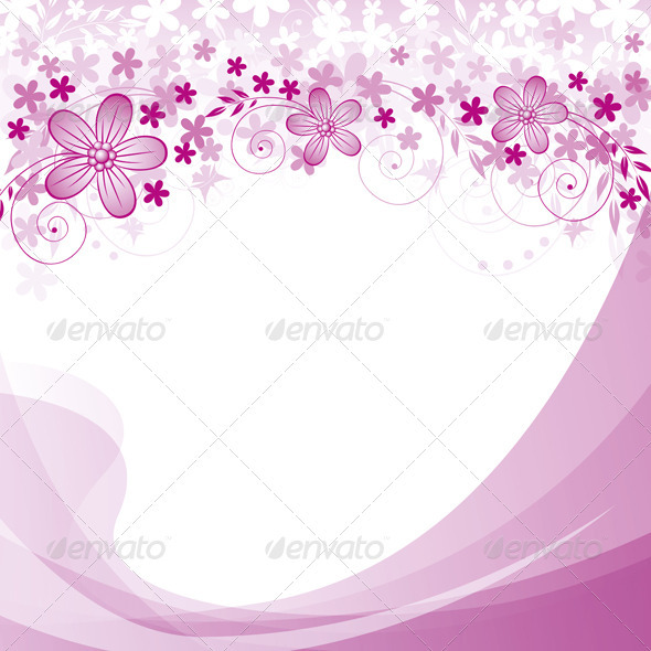 GraphicRiver Vector Flowers Background 3861592