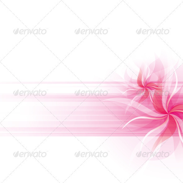 GraphicRiver Vector Flowers Background 3861609