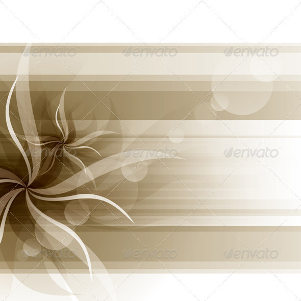 GraphicRiver Vector Flowers Background 3861642