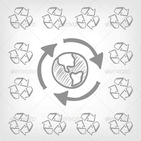 GraphicRiver Recycle Sign 3861692