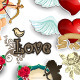 Set Cupid and love white background - GraphicRiver Item for Sale