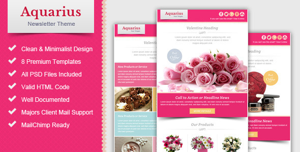Valentine Email Marketing & Newsletter Template - Email Templates Marketing