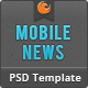 Mobile News PSD - ThemeForest Item for Sale