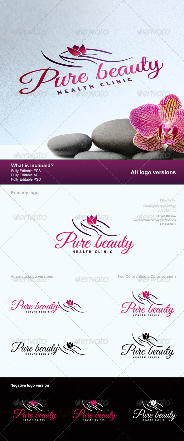 Pure Beauty Logo - Humans Logo Templates