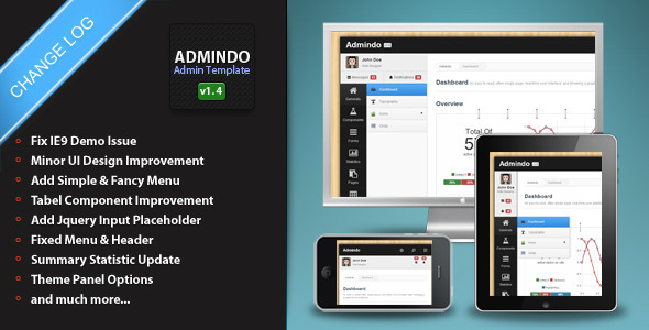 Admindo - Responsive Admin Template - Admin Templates Site Templates