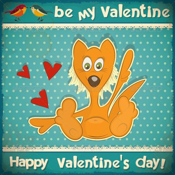 GraphicRiver Valentines Day Retro Card 3863107