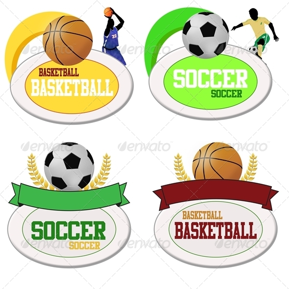 GraphicRiver Basketball and Footballs Icons 3863808