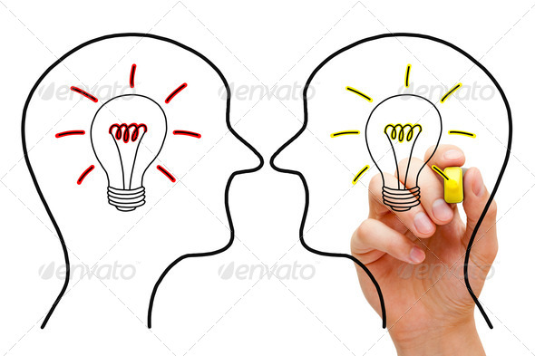 Two Ideas In Confrontation - Stock Photo - Images