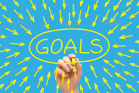 Goals Concept Yellow Marker - Stock Photo - Images