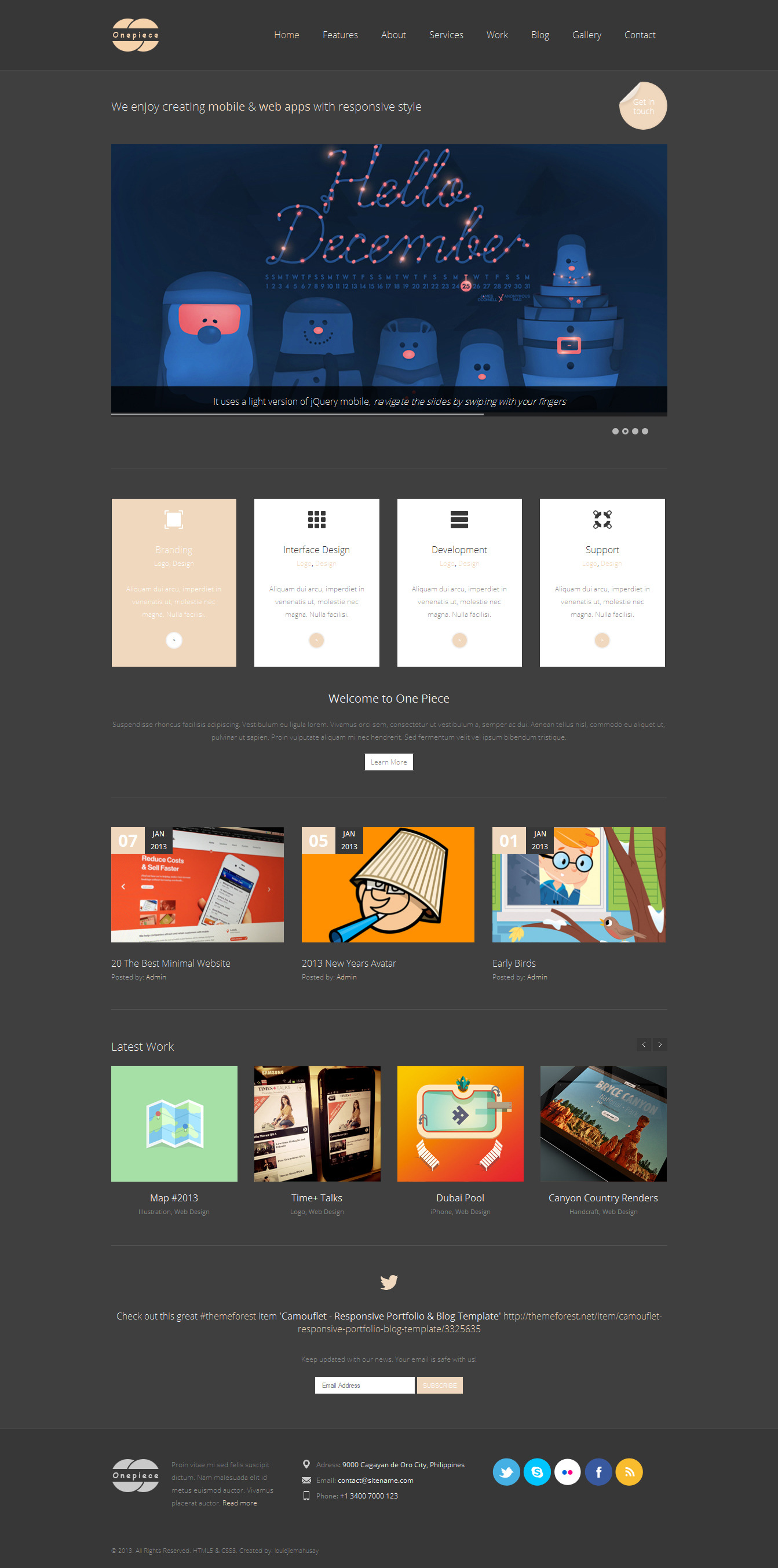 One Piece - Responsive html5 Business Template -
