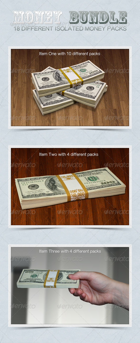 Money Bundle - Industrial & Science Isolated Objects