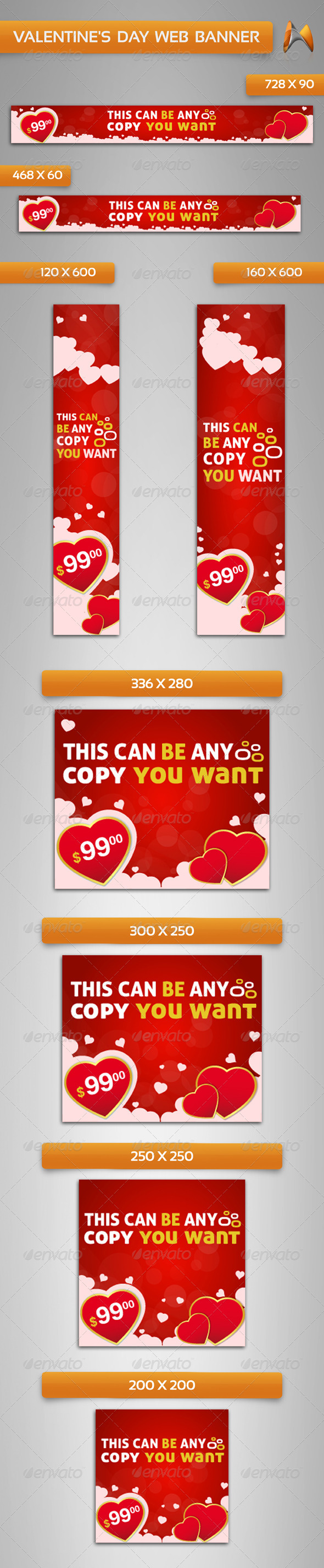 GraphicRiver Valentine s Day Web Banner 3778564