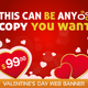 Valentine's Day Web Banner - GraphicRiver Item for Sale