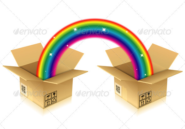 GraphicRiver Rainbow from Box 3865271
