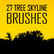 27 Tree Skyline Photoshop Brushes