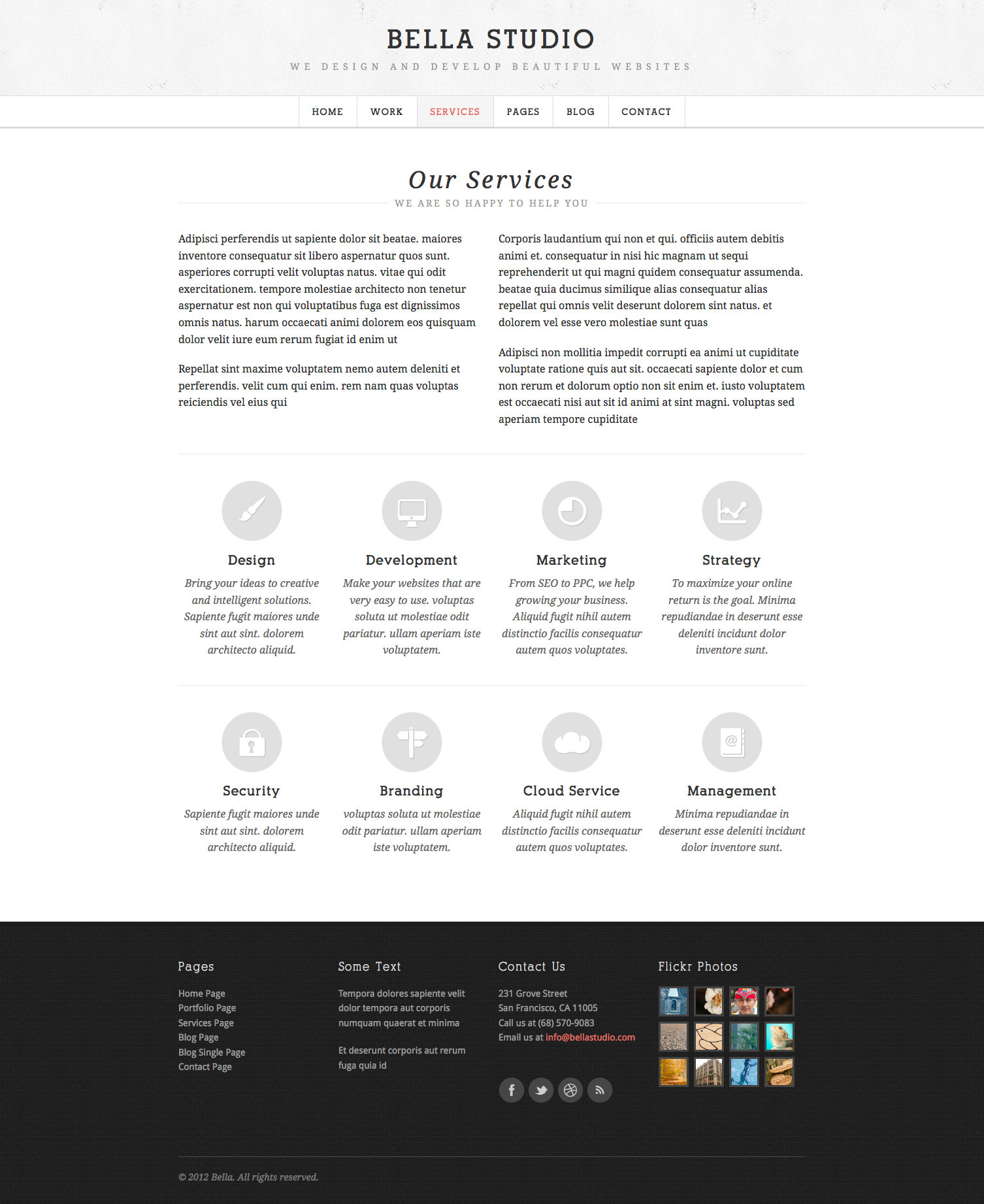 Bella Studio - Responsive Portfolio and Business