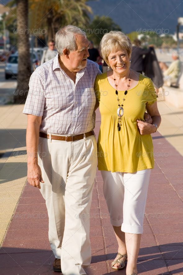 PhotoDune active seniors walking on vacation in mallorca 3866280