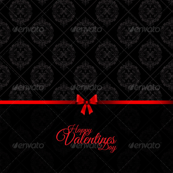 Damask Valentine's Day Background - Valentines Seasons/Holidays