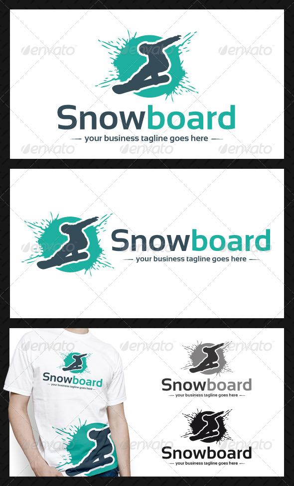 GraphicRiver Snowboard Logo Template 3866479